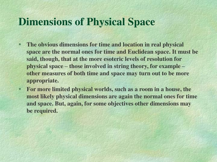 Dimensions of Physical Space