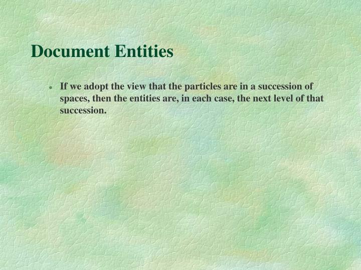 Document Entities