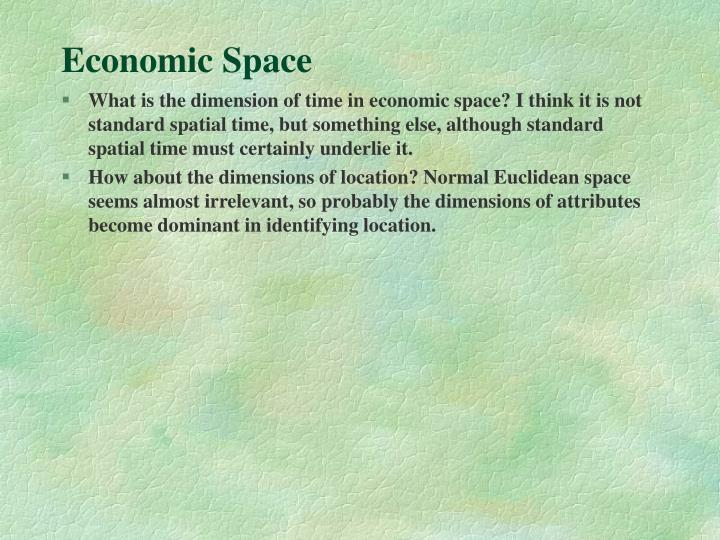 Economic Space
