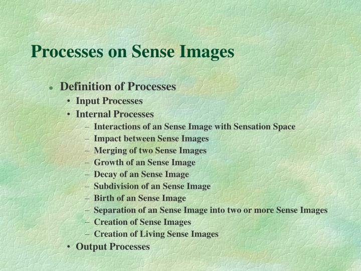 Processes on Sense Images