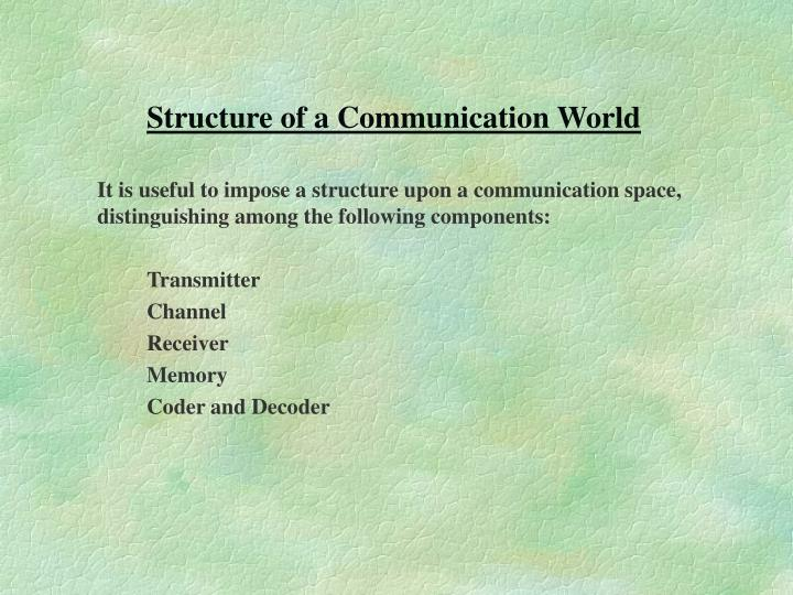 Structure of a Communication World