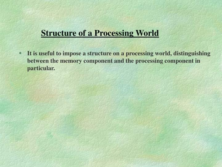 Structure of a Processing World