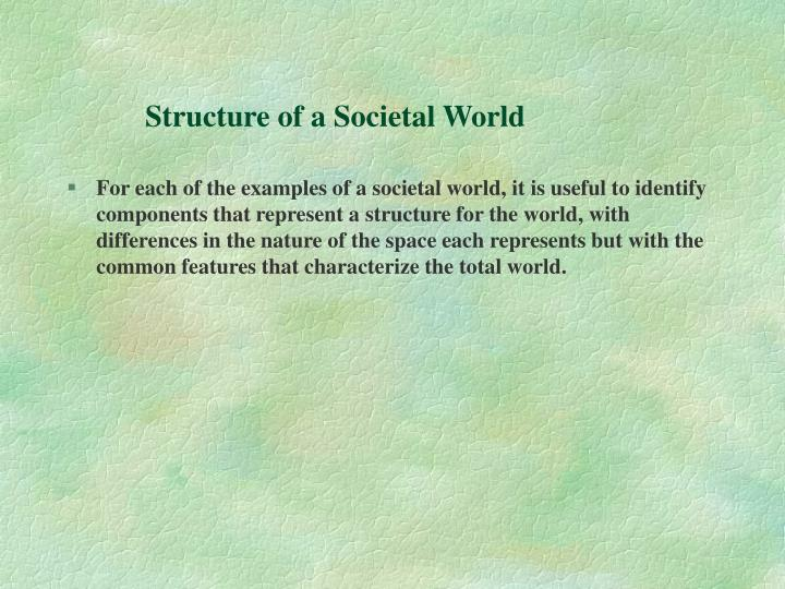 Structure of a Societal World