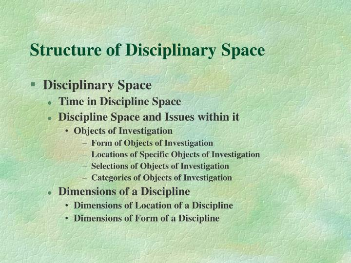 Structure of Disciplinary Space