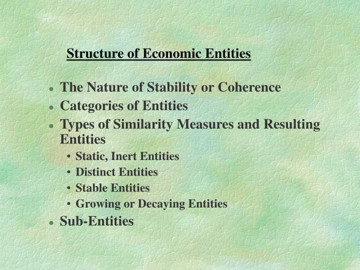 Structure of Economic Entities