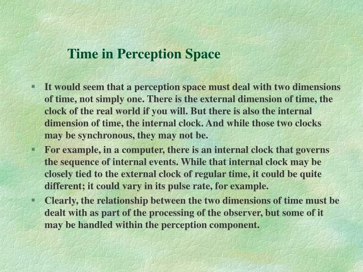 Time in Perception Space