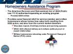 homeowners assistance program