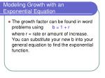 modeling growth with an exponential equation