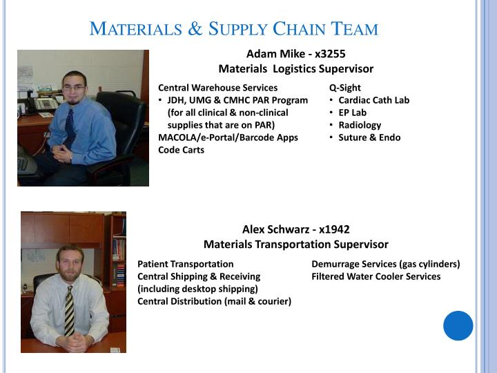 Materials & Supply Chain Team