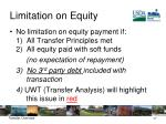 limitation on equity