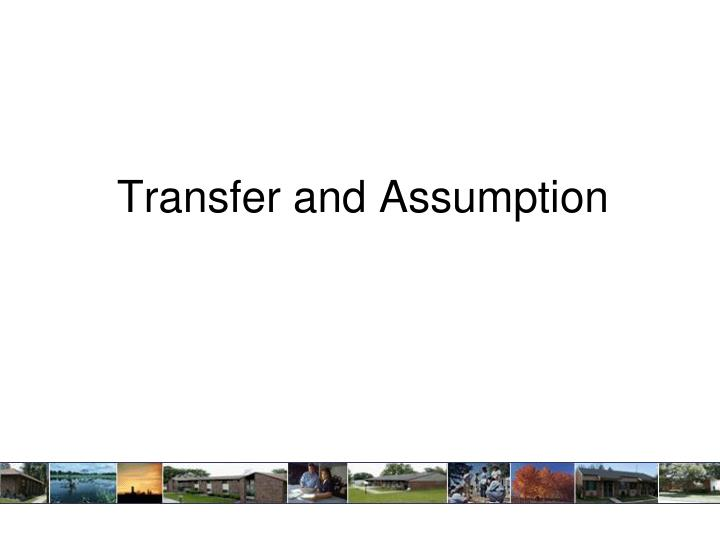 transfer and assumption n.