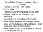 consultation service evaluation some comments