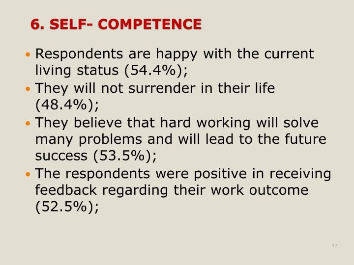 Respondents are happy with the current living status (54.4%);