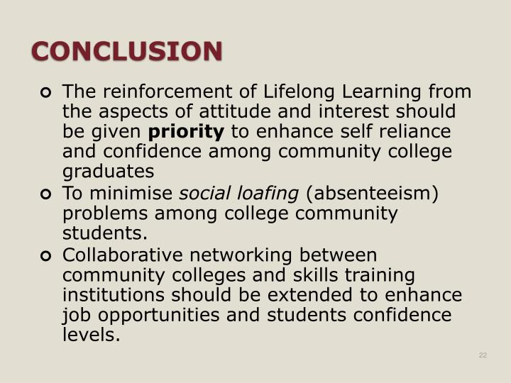 The reinforcement of Lifelong Learning from the aspects of attitude and interest should be given