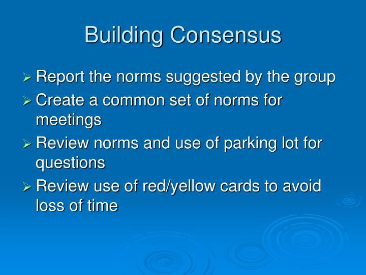 Building Consensus