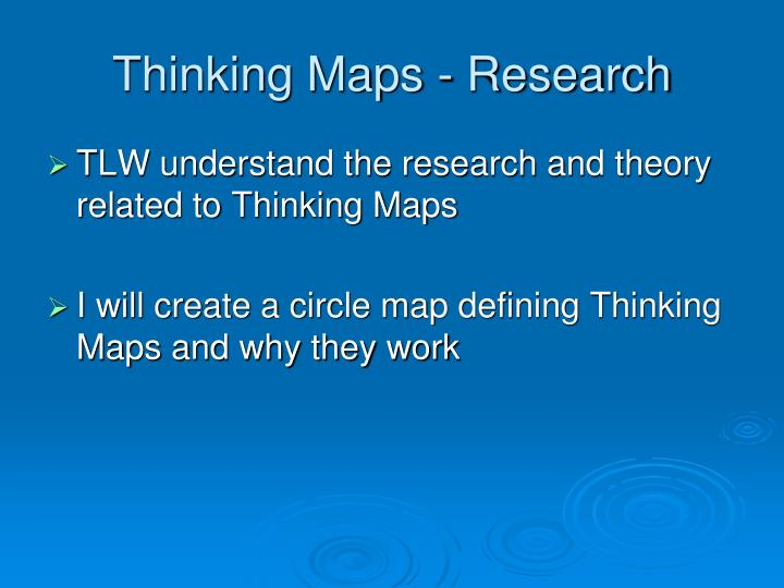 Thinking Maps - Research