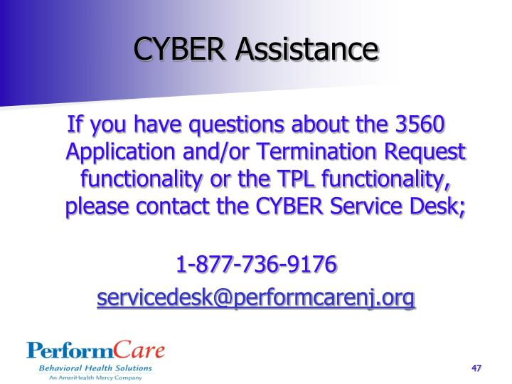 CYBER Assistance
