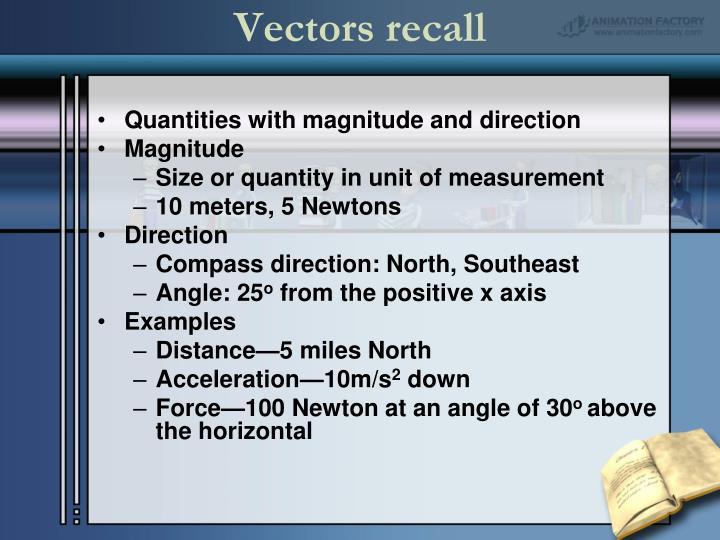Vectors recall