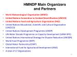 hmndp main organizers and partners