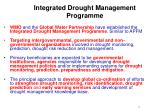integrated drought management programme