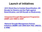 launch of initiatives