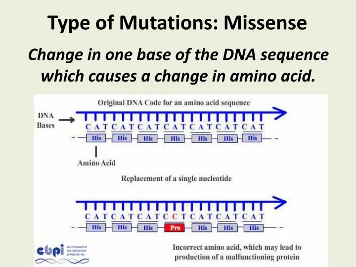 Type of Mutations: Missense