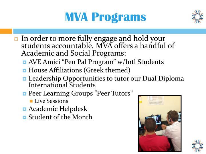 MVA Programs