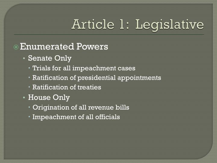 Article 1 legislative1