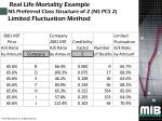 real life mortality example ns preferred class structure of 2 ns pcs 2 limited fluctuation method