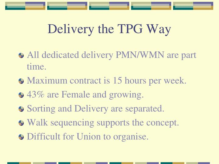 Delivery the tpg way1