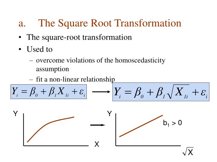 The Square Root Transformation