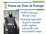 sousa on tour in europe