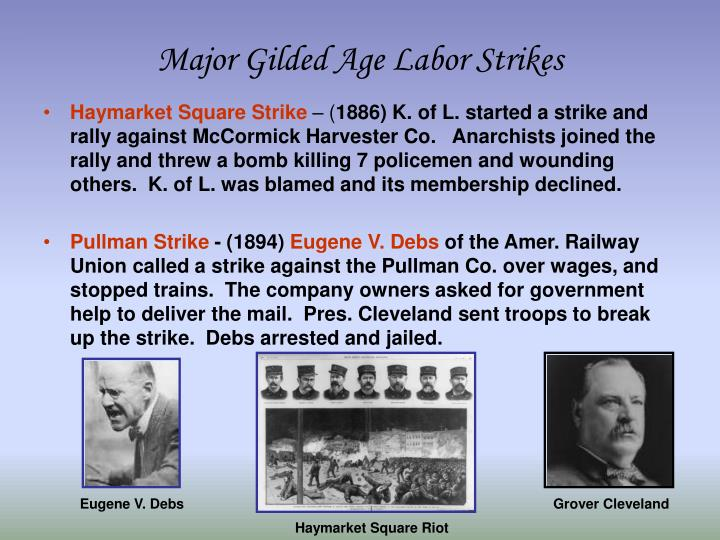 Major Gilded Age Labor Strikes