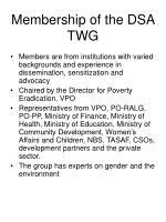 membership of the dsa twg