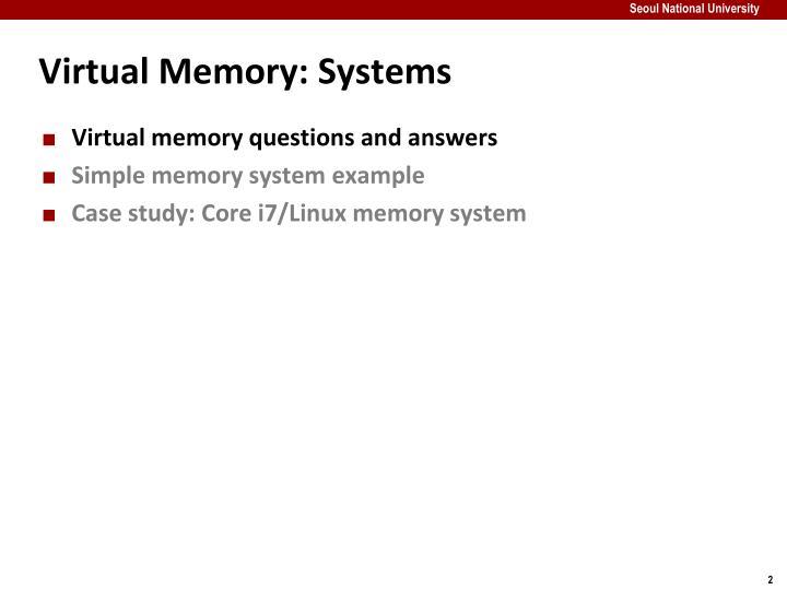 Virtual memory systems1
