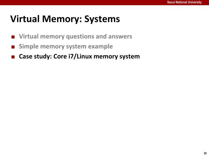 Virtual Memory: Systems
