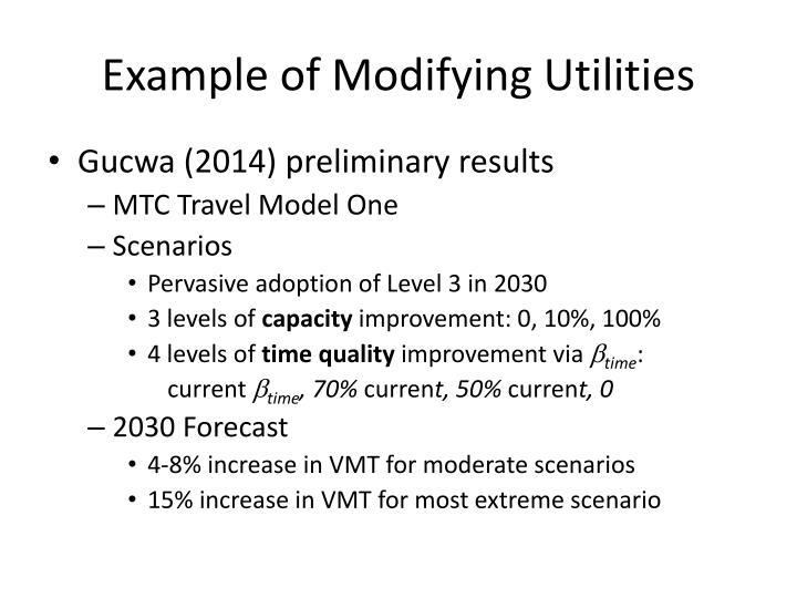 Example of Modifying Utilities