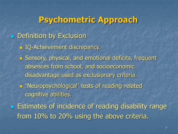 Psychometric Approach