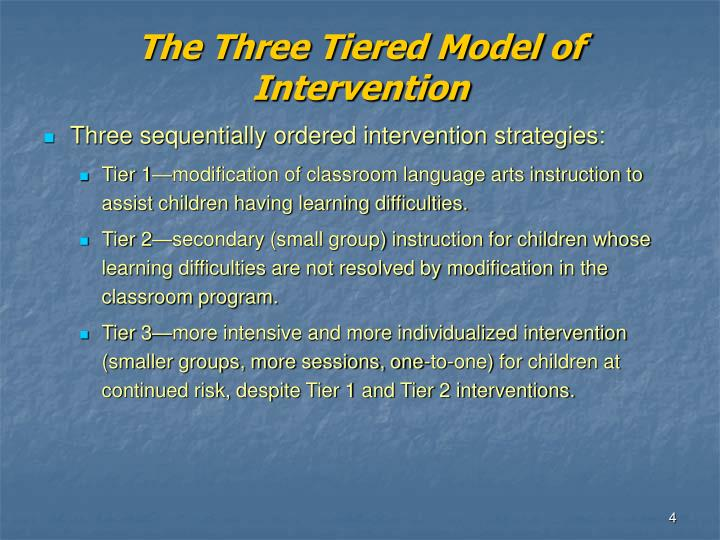The Three Tiered Model of Intervention