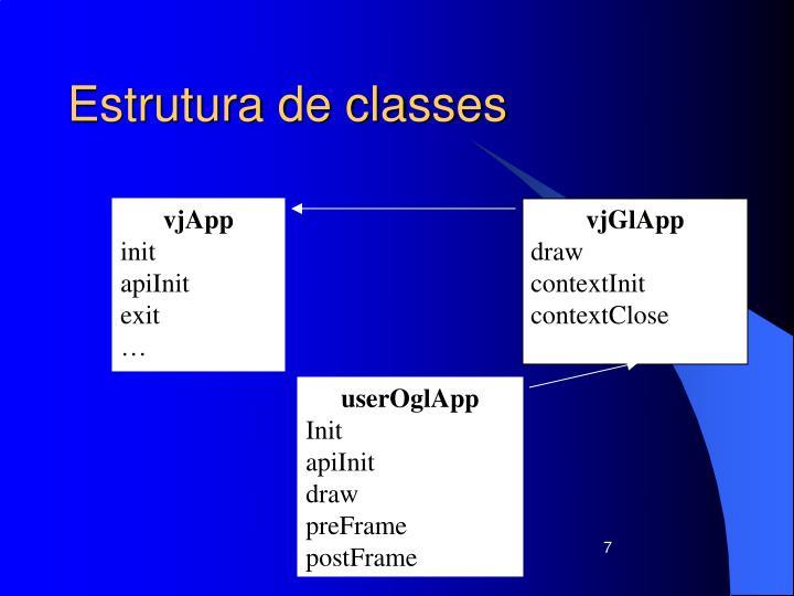 Estrutura de classes