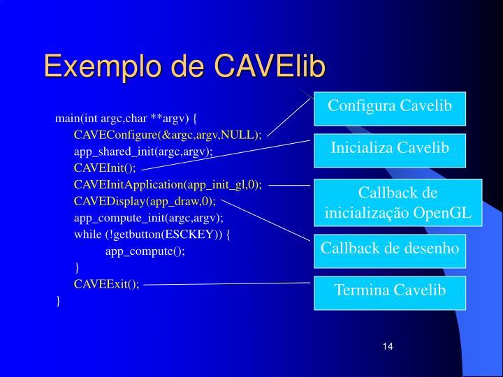 Exemplo de CAVElib