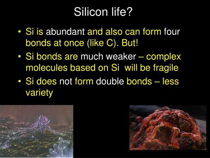Silicon life?