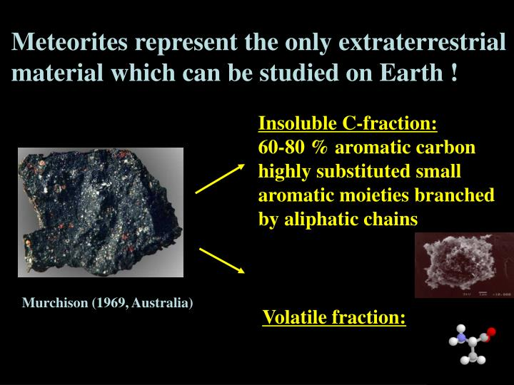 Meteorites represent the only extraterrestrial