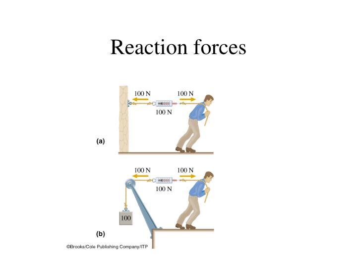 Reaction forces