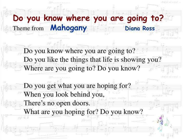 Do you know where you are going to theme from mahogany diana ross