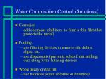 water composition control solutions1