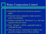 water composition control