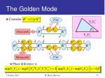 the golden mode