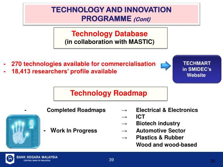 TECHNOLOGY AND INNOVATION PROGRAMME