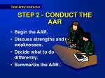 step 2 conduct the aar